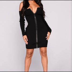 Take a shot zipper dress